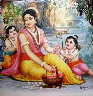 Image result for sita and luv kush